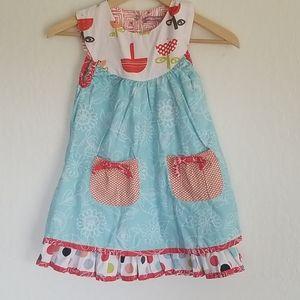 Jelly the Pug Mushroom Dress Size 7